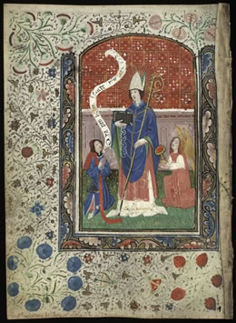 Image taken from the Book of the Hours of the Virgin and St Ninian